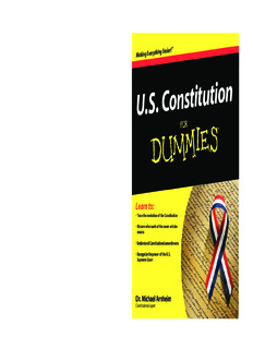 US Constitution For Dummies