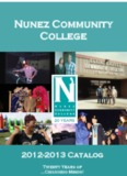 Catalog 2012-2013 - Nunez Community College