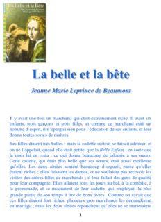 Jeanne Marie Leprince de Beaumont - lesaventuresdeloulou.fr