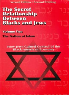 The Secret Relationship between Jews and Blacks Volume 2