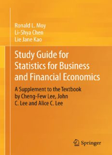 Study Guide for Statistics for Business and Financial Economics: A Supplement to the Textbook by Cheng-Few Lee, John C. Lee and Alice C. Lee