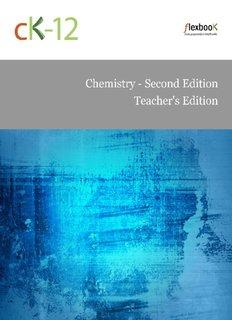 Chemistry, Teacher's Edition - Rachel