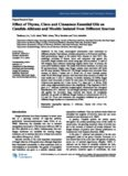 Effect of Thyme, Clove and Cinnamon Essential Oils on Candida Albicans and Moulds Isolated ...