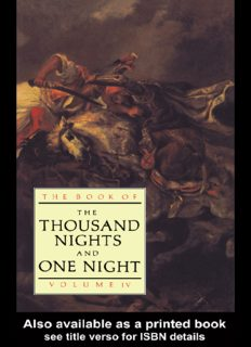 The Book of the  Thousand Nights and One Night - Vol 4