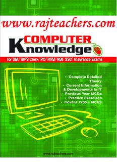 Computer Knowledge for SBI& IBPS Bank Clerk PO SO RRB RBI exams
