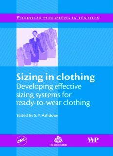 Sizing in Clothing: Developing Effective Sizing Systems for Ready-To-wear Clothing