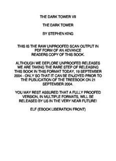 King, Stephen - The Dark Tower 7 - The Dark Tower