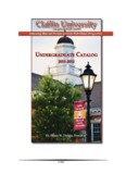 Academic Catalog - Claflin University