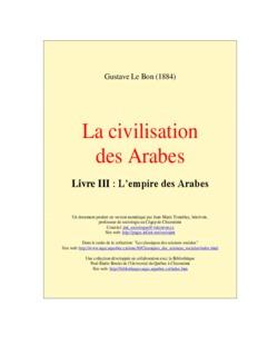 La civilisation des Arabes - zainab-an-nefzaouia.com