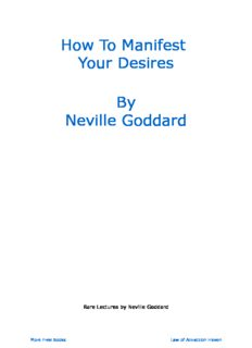 How To Manifest Your Desires By Neville Goddard