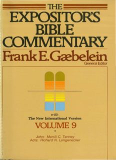 The Expositor's Bible Commentary: John and Acts