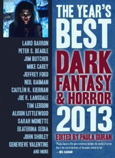 The Year's Best Dark Fantasy and Horror 2013