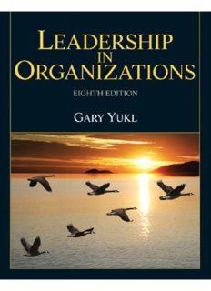 Eighth Edition Leadership in Organizations Gary Yukl