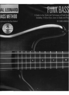 Hal Leonard Funk Bass: A Guide To The Styles And Techniques Of Funk Bass