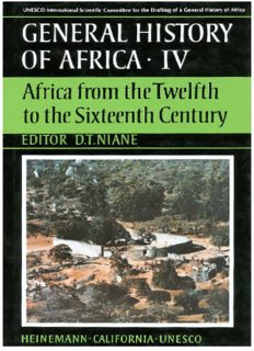 General history of Africa, IV: Africa from the twelfth to the sixteenth century
