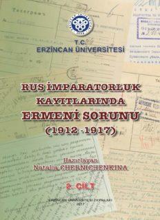 Rus İmparatorluk Kayıtlarında – Ermeni Sorunu – Natalia Chernıchenkına
