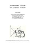 Mathematical Methods for Economic Analysis∗