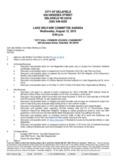 CITY OF DELAFIELD 500 GENESEE STREET DELAFIELD WI 53018 (262) 646-6220 LAKE ...