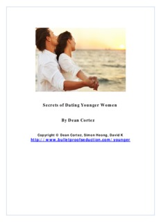 Secrets of Dating Younger Women By Dean Cortez