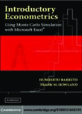 INTRODUCTORY ECONOMETRICS: Using Monte Carlo Simulation with Microsoft Excel