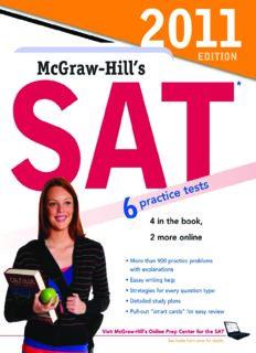 McGraw-Hill's SAT, 2011 Edition (Mcgraw Hill's Sat)