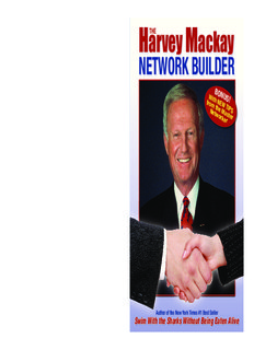 How Big Harvey THE Mackay Is Your NETWORK BUILDER