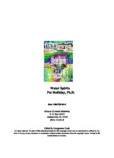 Water Spirits Pat Holliday, Ph.D.