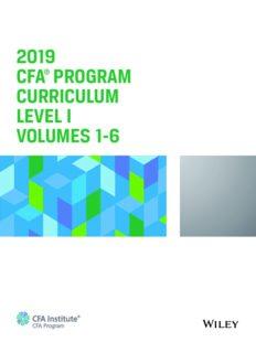2019 CFA Program Curriculum Level I, Volumes 1-6