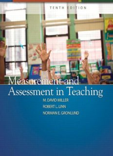 Measurement and Assessment in Teaching (Tenth Edition)