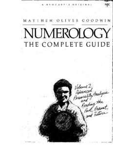 Numerology the Complete Guide, Volume 2: Advanced Personality Analysis and Reading the Past, Present and Future
