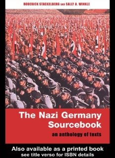 The Nazi Germany Sourcebook - Michael Stuart's Classroom