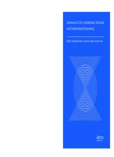 Advances in civil, architectural, structural and constructional engineering: proceedings of the international conference on civil, architectural, structural and constructional engineering, Dong-A University, Busan, South Korea, 21-23 August, 2015