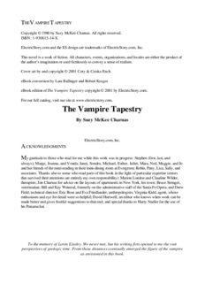 Suzu McKee Charnas - Vampire Tapestry