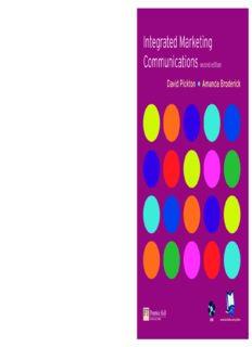 David Pickton, Amanda Broderick Integrated Marketing Communications 2005
