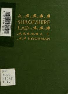 A Shopshire Lad by A.E. Housman