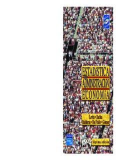 Estadística para Administración y Economía 7ma. Edición