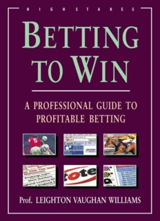Betting to Win: A Professional Guide to Profitable Betting