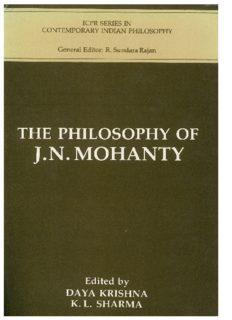 The Philosophy of J.N. Mohanty