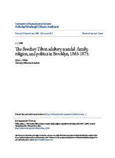 The Beecher-Tilton adultery scandal