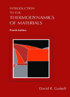 INTRODUCTION TO THERMODYNAMICS OF MATERIALS by DAVID R. GASKELL