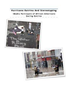 Hurricane Katrina rricane Katrina And Stereotyping d Stereotyping