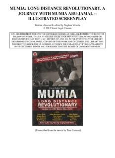 mumia: long distance revolutionary. a journey with mumia abu-jamal