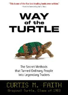 Curtis M. Faith : Way Of The Turtle™ √PDF