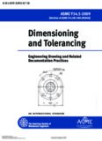 Dimensioning and tolerancing: engineering drawings and related documentation practices : an international standard