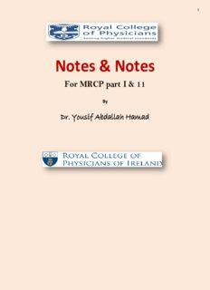Note & Notes for MRCP part 1 & 2