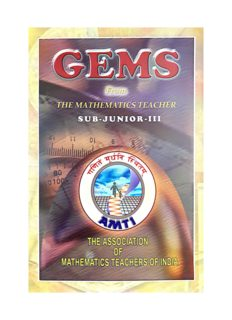 AMTI GEMS Sub Junior Level 3 ( Middle School Classes ) from The Mathematics Teacher NSEJS RMO INMO IMO Olympiad Foundation