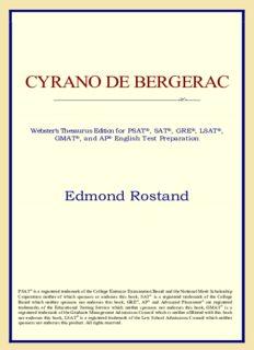 Cyrano de Bergerac (Webster's Thesaurus Edition)