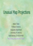 Unusual Map Projections Tobler 1999