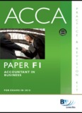ACCA: PAPER F1 ACCOUNTANT IN BUSINESS