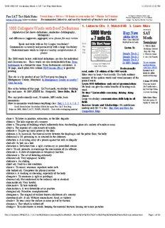 5000 FREE SAT Vocabulary Words + SAT Test Prep - E4Thai.com